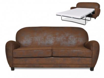 Clubsofa 3-Sitzer Schlafsofa mit Matratze Microfaser Ricky