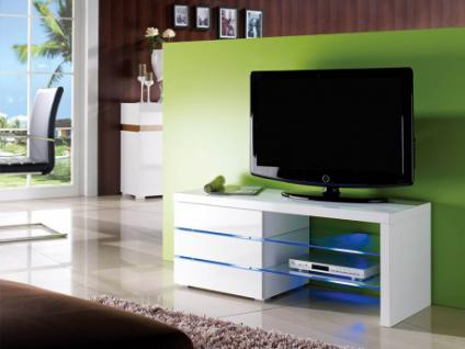 TV-Möbel Glas LED Light - Weiß