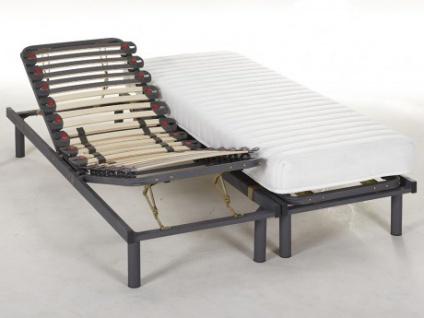 Matratzen 3-Zonen-Lattenrost Set verstellbar KUTA von DREAMEA - 2x70x190cm