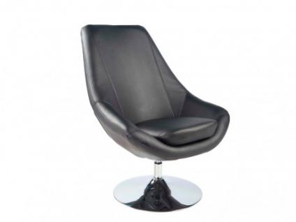 Lounge-Sessel Eliope - Drehbar - Schwarz