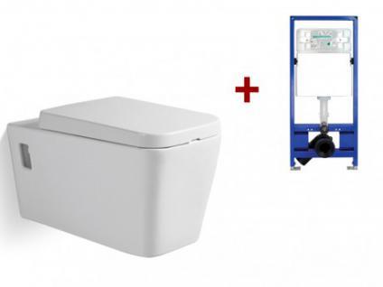 Wand WC Keramik Maiko - Weiß + Wand WC Element Tobi