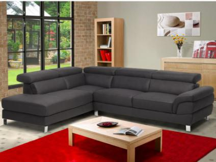 ecksofa grau microfaser online bestellen bei yatego. Black Bedroom Furniture Sets. Home Design Ideas