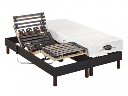Matratzen elektrischer Lattenrost 2er-Set mit Motor Thesee - 2x70x190cm