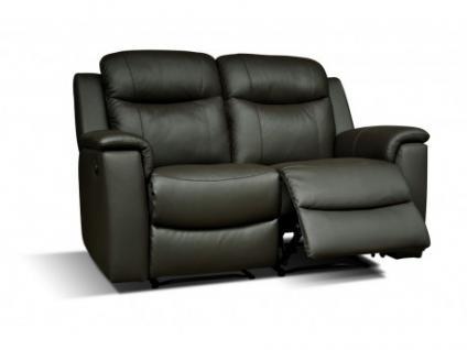 Relaxsofa Leder 2-Sitzer Evasion - Schwarz