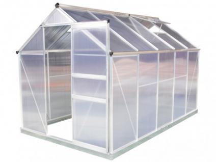 Garten Gewächshaus Aluminium Polycarbonat Sincera - 5, 92m²