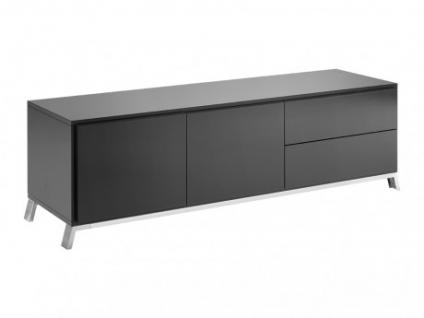 TV-Möbel Murray - 2 Türen & 2 Schubladen - Anthrazit