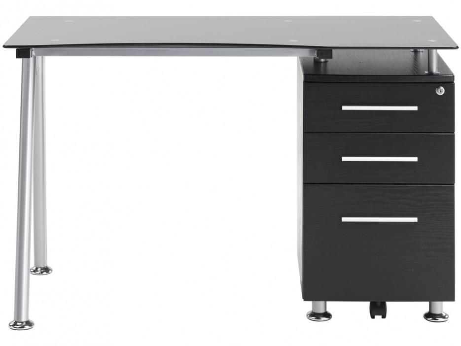 computertisch schreibtisch glas andromeda kaufen bei. Black Bedroom Furniture Sets. Home Design Ideas