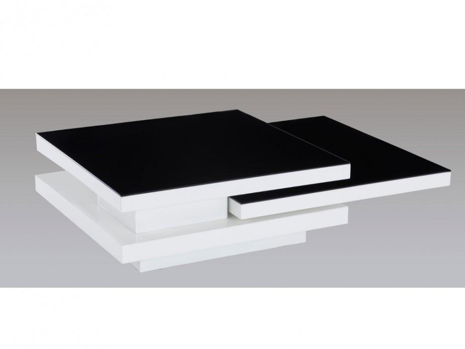 couchtisch hochglanz glas estrada wei schwarz. Black Bedroom Furniture Sets. Home Design Ideas