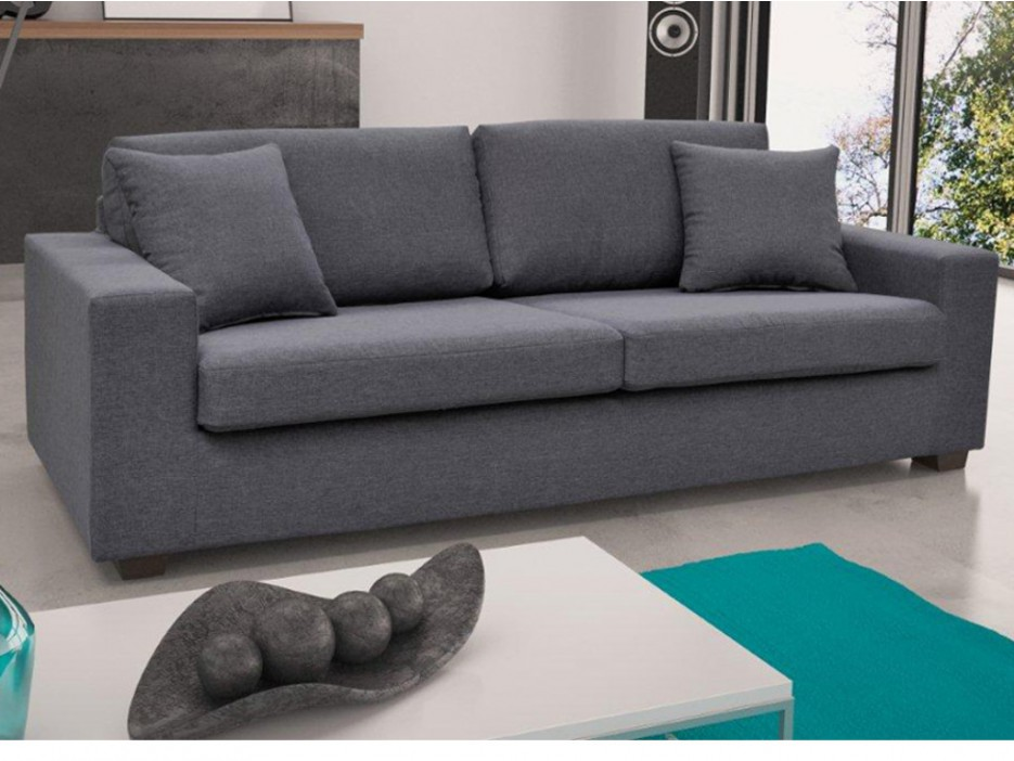 2 sitzer sofa stoff yudo grau kaufen bei kauf. Black Bedroom Furniture Sets. Home Design Ideas