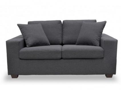 2 sitzer sofa stoff yudo grau kaufen bei kauf. Black Bedroom Furniture Sets. Home Design Ideas