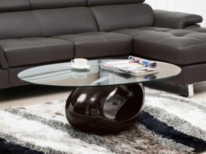 Couchtisch Glas Pebble - Braun