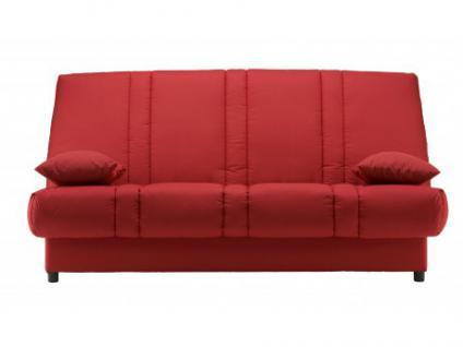 Schlafsofa Klappsofa mit Bettkasten Farwest - Rot
