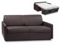 Schlafsofa 3-Sitzer mit Matratze Calife - Braun - Liegefläche: 140 cm
