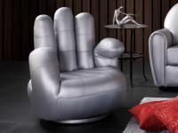 Sessel Fingersessel Catchy - Silber