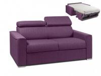 Schlafsofa 2-Sitzer Stoff mit Matratze Vizir II - Violett - Liegefläche: 120 cm - Matratzenhöhe: 18 cm