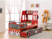 Kojenbett Kinderbett mit Lattenrost Feuerwehr - 2x 90x190cm