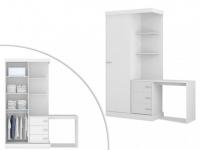 Kleiderschrank mit integriertem Schreibtisch Fika