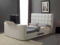 Polsterbett mit TV-Lift Profusion - 160x200cm - Weiß