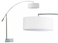 Bogenleuchte Stehleuchte Marmor Urbano - Weiß - Höhe: 175 cm