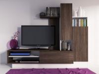 TV-Möbel TV-Wand Balinto - Wenge
