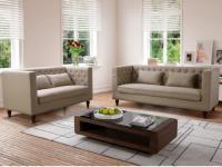 Couchgarnitur Stoff 3+2 Iringa - Beige