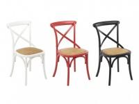 Stuhl 2er-Set Holz massiv Tarik - Weiß