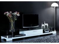 TV-Möbel Hochglanz Cristo II - Weiß