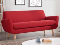 Sofa 3-Sitzer Stoff Traviata - Rot