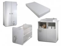 Sparset Babyzimmer: Kollektion Catty (4 tlg.)