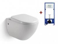 Wand WC Keramik Lara + Wand WC Element Tobi