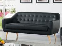 3-Sitzer Sofa Caroline - Schwarz