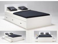 Bett mit Stauraum Pacom - 140x190cm - Weiß