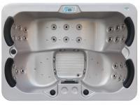 LED-Whirlpool Spa Themise II - 4 Plätze - Perlgrau