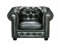 Chesterfield Ledersessel Brenton - Vintage Leder - Grün