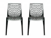 Stuhl 2er-Set Diadem - Polycarbonat - Grau