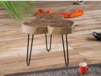 Beistelltisch Holz Metall SANSA