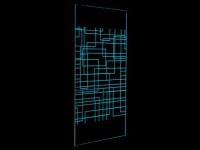LED-Duschtrennwand Seitenwand italienische Dusche Farbwechsel Pamela - 120x200cm