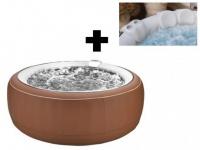 Sparset: Whirlpool aufblasbar Bcool III - Braun - 4 Personen + Accessoire-Set