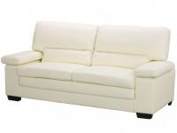 Ledersofa 3-Sitzer Mimas - Elfenbein