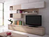 TV-Möbel TV-Wand Hochglanz Jasper - Weiß