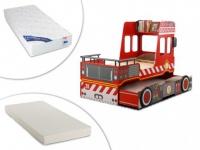 Sparset Feuerwehr: Kojenbett in 2x 90x190cm + 2 Matratzen (3-tlg.)