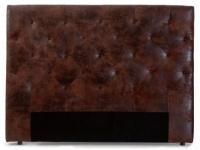 Kopfteil Bett gepolstert Enza - Breite: 162 cm - Braun