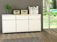 Sideboard Sorriso - 3 Türen & 3 Schubladen-Weiß