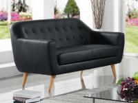 2-Sitzer Sofa Caroline - Schwarz