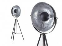 Stehleuchte Tripod Metall Movie Schwarz & Silber - Höhe: 166 cm