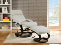 Massagesessel Leder Rodrigo - Weiß