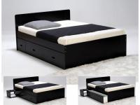 Bett mit Stauraum Pacom - 140x190cm - Schwarz