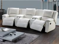 Relaxsofa Leder 3-Sitzer Aroma - Weiß