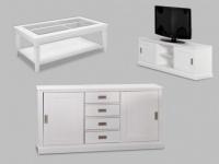 Sparset Gerande: Couchtisch + TV-Möbel + Sideboard Gerande (3-tlg.)