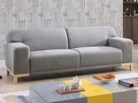 3-Sitzer-Sofa Stoff Obrian - Grau